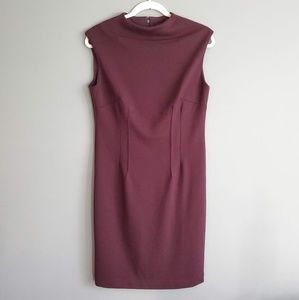 NWT Adrienne Vittadini Sleeveless dress in Port 6